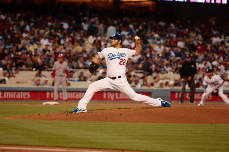 Clayton Kershaw has another dominant outing against the Angels. Photo by Astrud Reed/News4usonline.com