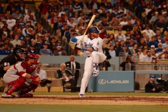The Dodgers picked up 13 hits during their 5-1 win against the Angels. Photo by Astrud Reed/News4usonline.com
