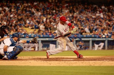 The Angels beat the Dodgers in the first and third games of the Freeway Series. Photo by Astrud Reed/News4usonline.com