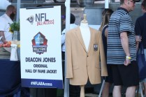 The late Deacon Jones Hall of Fame jacket. Photo by Astrud Reed/News4usonline