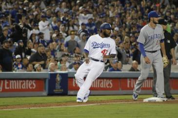Howie Kendrick rounding third base. Photo by Dennis J. Freeman/News4usonline