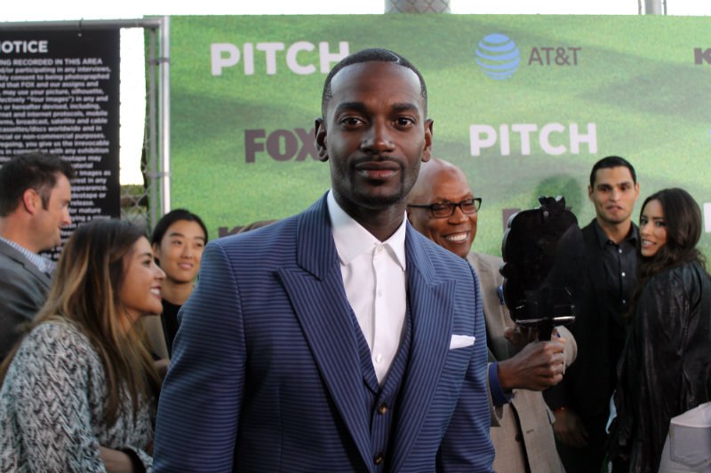 """Actor Mo McRae plays Blip Sanders in the Fox television series """"Pitch."""" Photo by Dennis J. Freeman/News4usonline.com"""
