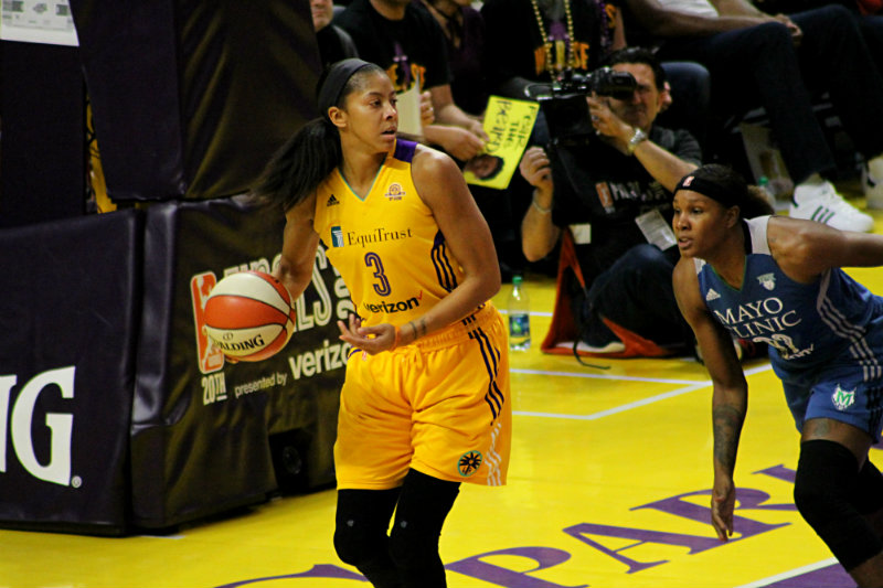 Candace Parker and the Los Angeles Sparks lost Game 4 of the WNBA Finals at Staples Center on Sunday, Oct. 16, 2016. Photo by Dennis J. Freeman/News4usonline.com
