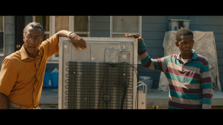 """Andre Royo (left) and .....stars in the """"Hunter Gatherer."""""""