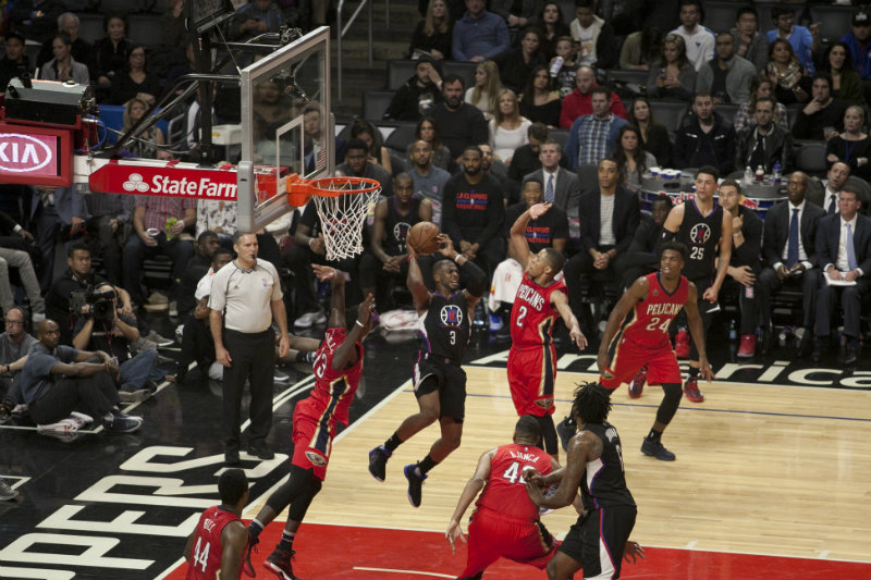 Chris Paul finished the game against the New Orleans Pelicans with 20 points and 20 assists. Photo by Astrud Reed/News4usonline.com