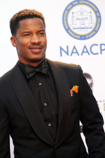 """Actor Nate Parker, who directed and starred in """"The Birth of a Nation,"""" is seen here on the red carpet at the 2015 NAACP Image Awards. Photo by Dennis J. Freeman/News4usonline.com"""