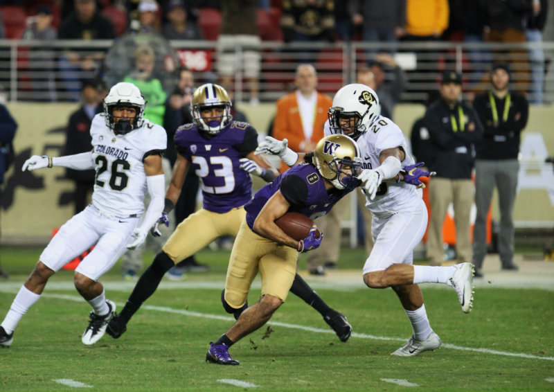 Washington went roughshod against Colorado, recording a 41-10 win the Pac-12 Conference Championship on Friday, Dec. 2, 2016. Photo by William Johnson/News4usonline.com