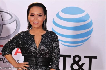 """""""Underground"""" star Amirah Vann is glamorous on the red carpet at the 49th Annual NAACP Image Awards on Monday, Jan. 15, 2018. Photo by Dennis J. Freeman"""