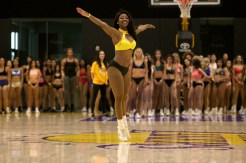 Several hundreds dancers made their way to El Segundo, California, to take part in the Los Angeles Laker Girls audition on Sunday, July 8, 2018. Photo by Astrud Reed for News4usonline