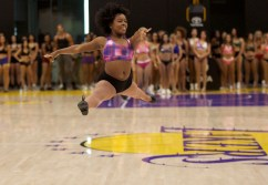 Sweat and precision was the name of the game during the 2018-2019 Los Angeles Laker Girls open audition on Sunday, July 8, 2018. Photo by Astrud Reed for News4usonline