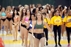 The audition call for the 2018-2019 Los Angeles Laker Girls had the team's practice facility full of activity and dance routines on Sunday, July 8, 2018. Photo by Astrud Reed for News4usonline