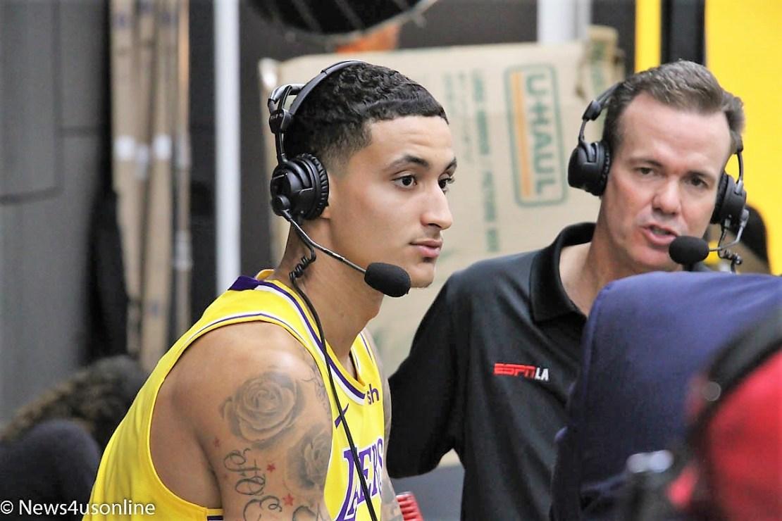 Kyle Kuzma Lakers Media Day