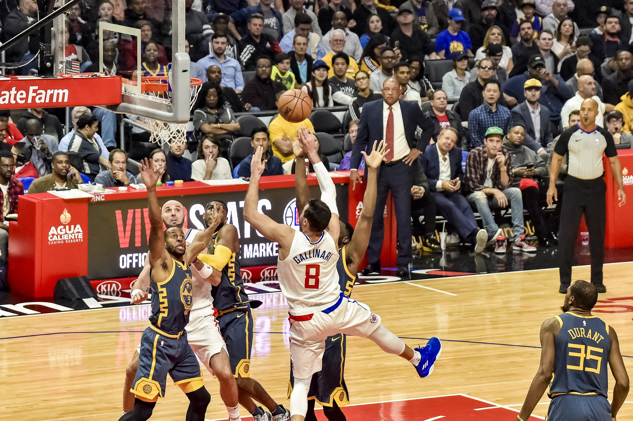 Warriors against Clippers