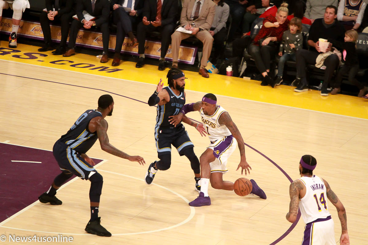 Lakers and Grizzlies play an NBA game at Staples Center in Los Angeles