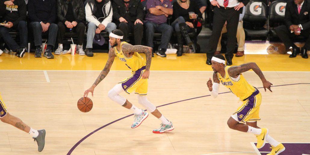 Brandon Ingram leads the Lakers fastbreak
