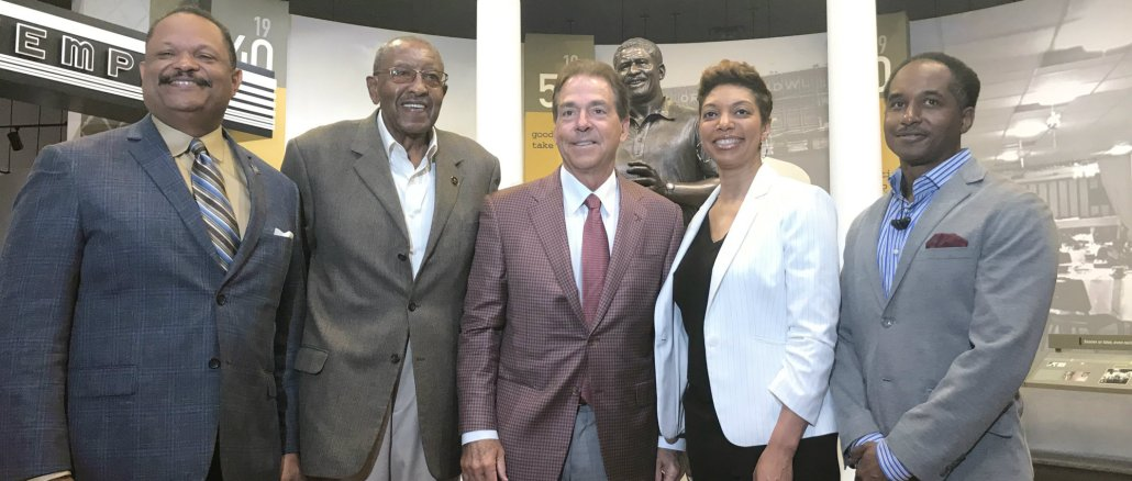 Nick Saban honors Eddie Robinson