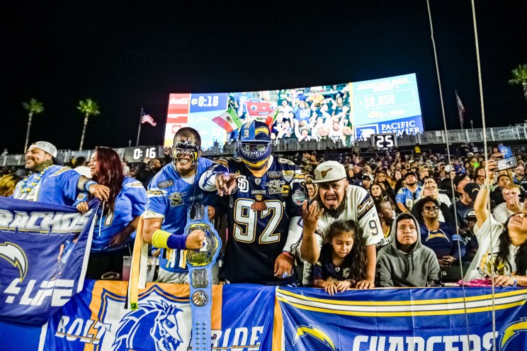 © Mark Hammond/News4usonline - Aug. 24, 2019 - Seahawks vs. Chargers - Chargers fans ready for some football.