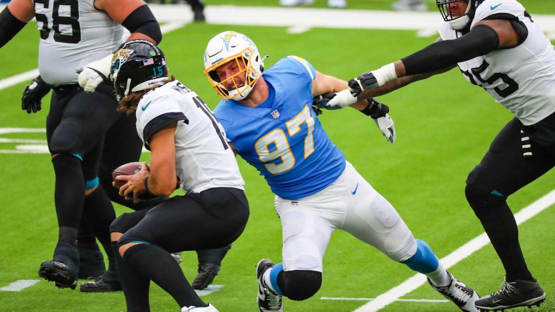 Joey Bosa making a sack