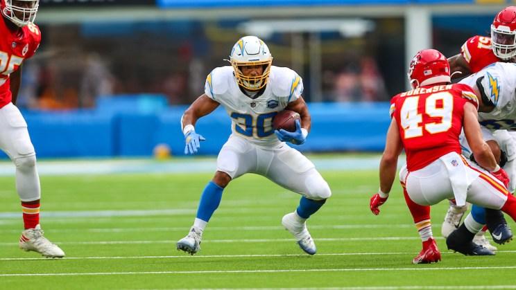 Los Angeles Chargers running back Austin Ekeler