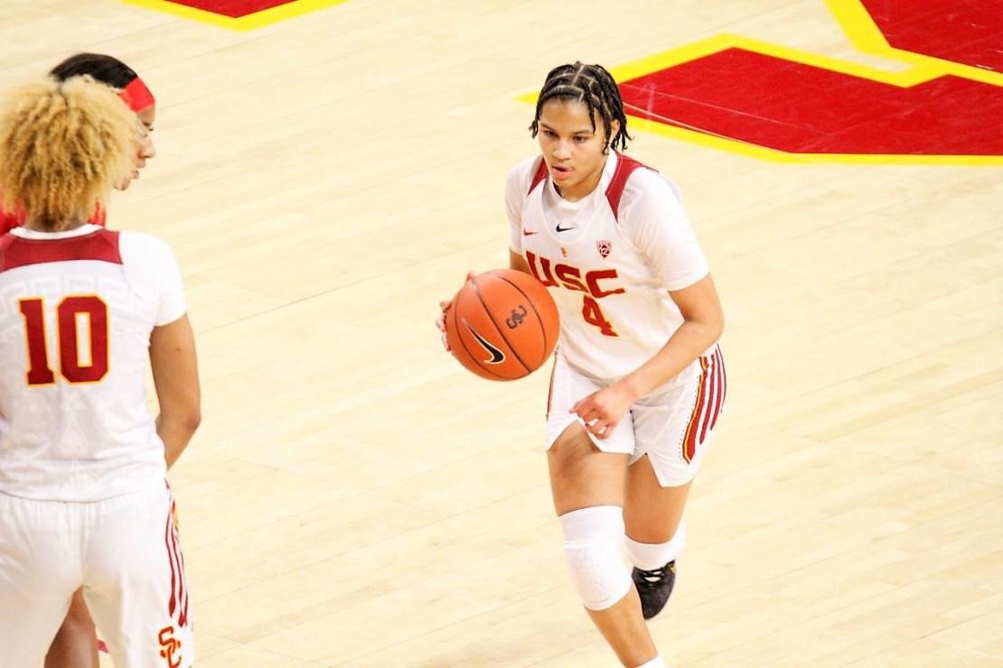 USC women's basketball player Endyia Rogers