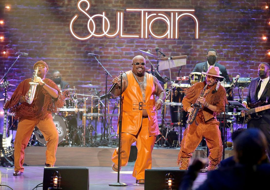 CeeLo Green performs the 2020 Soul Train Awards presented by BET. (Photo by Leon Bennett/STA 2020/Getty Images for BET)""