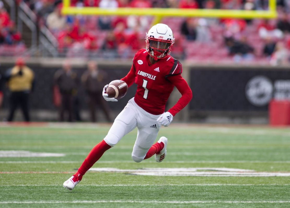 Louisville wide receiver Tutu Atwell was drafted by the Los Angeles Rams