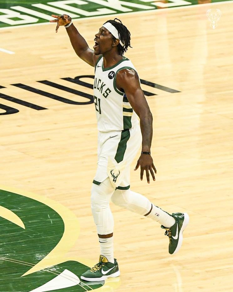 JRUE HOLIDAY WINS 2020-21 NBA SPORTSMANSHIP AWARD. Milwaukee Bucks. Courtesy photo