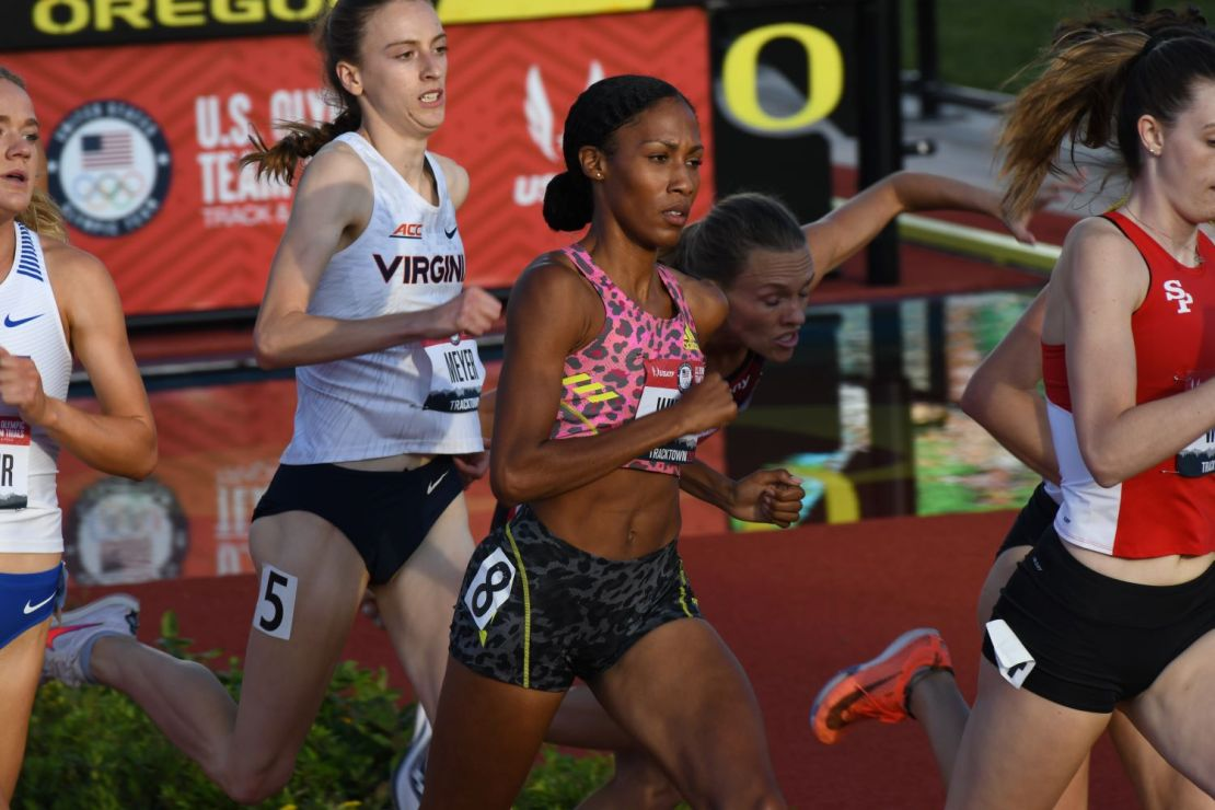 Ajee Wilson wins the 800 at the US Olympic Track and Field Trials