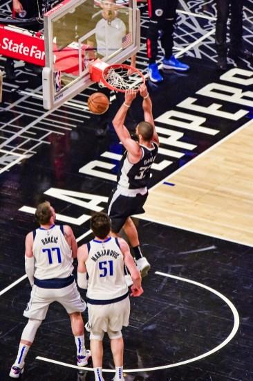 June 6, 2021-Nicolas Batun of the Los Angeles Clippers throwing it down. Photo credit: Mark Hammond/News4usonline