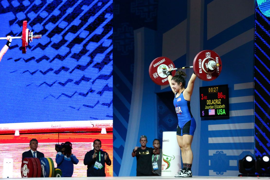 USA weightlifter Jourdan Delacruz hopes to medal at the Tokyo Olympics. Courtesy photo