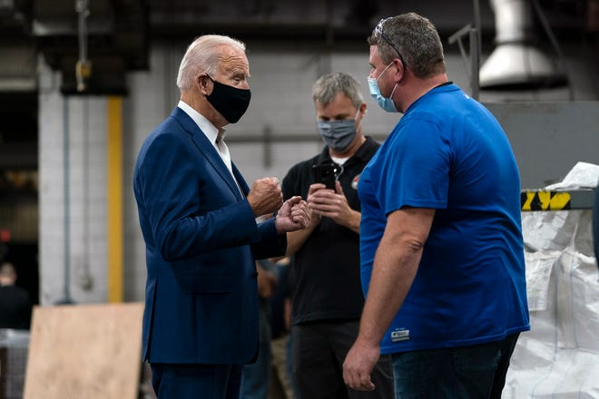 'I beat the socialist.' Biden tacks to the center in fight with Trump over Rust Belt moderates