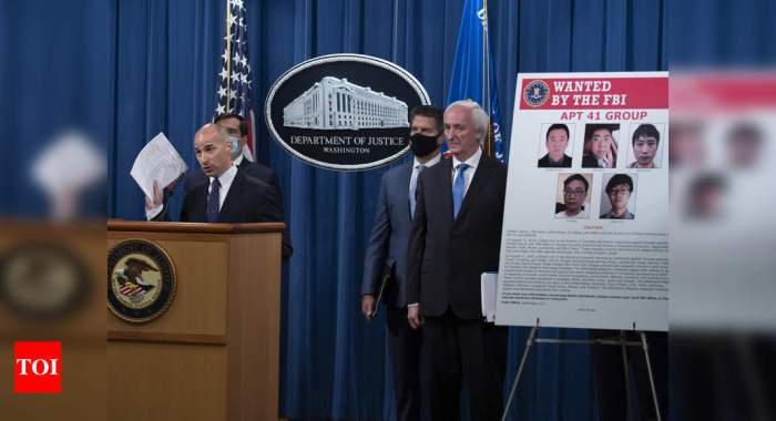 5 Chinese nationals charged in mega hacking scheme, Indian govt networks hit: US   India News