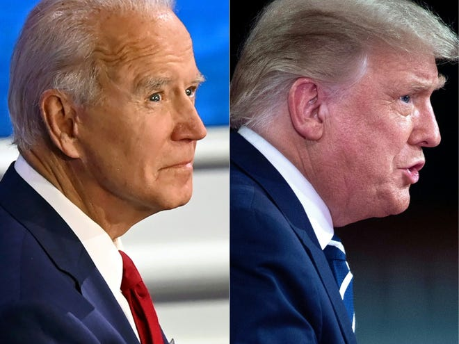 A town hall with Trump was testy, a forum with Biden was much quieter: Here are takeaways from each