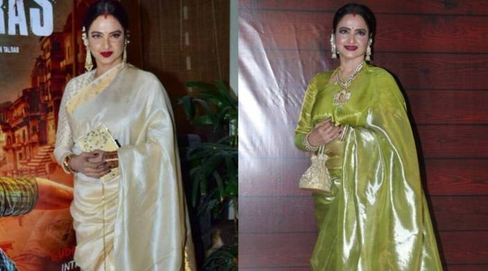 Every time Rekha made us fall in love with saris; see pics