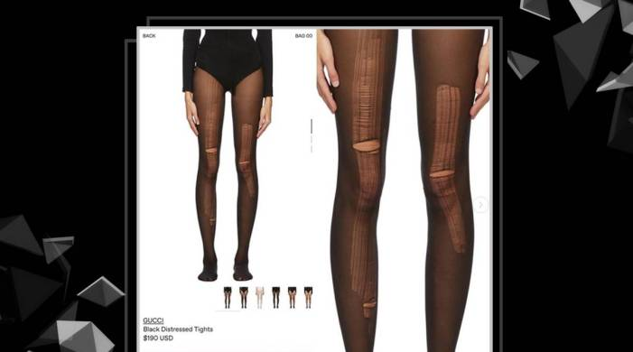 Gucci is now selling distressed stockings; can you guess the price?