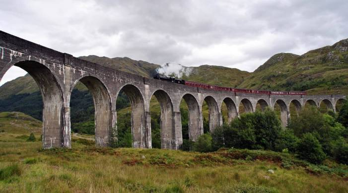 Harry Potter fans can ride the 'Hogwarts Express' through the Scottish Highlands