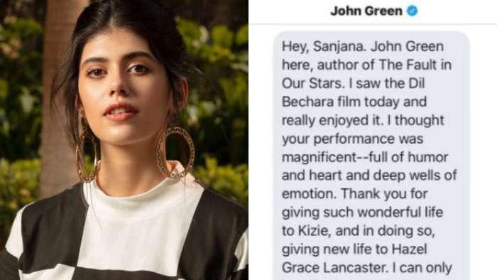 'The Fault in Our Stars' author John Green praises 'Dil Bechara' star Sanjana Sanghi, actress shares message screenshot