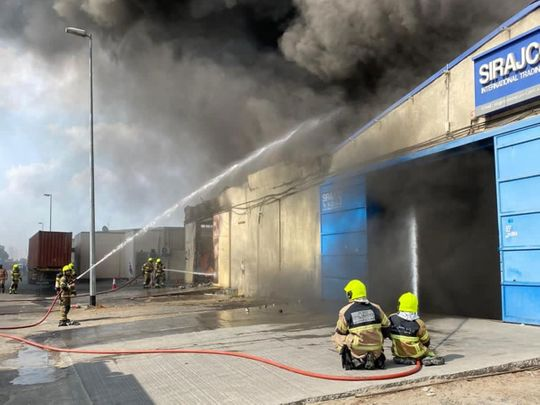 Fire breaks out at Dubai warehouses