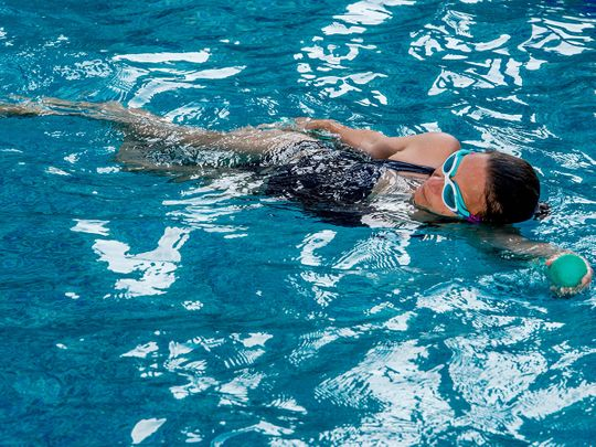 In Pictures: Aquafit, an unusual water-based workout at Dubai fitness challenge