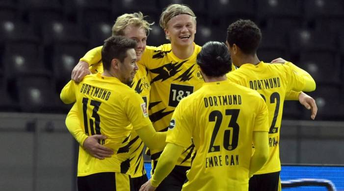 Watch: Erling Haaland gets 4 for Dortmund, 16-year-old Moukoko sets record