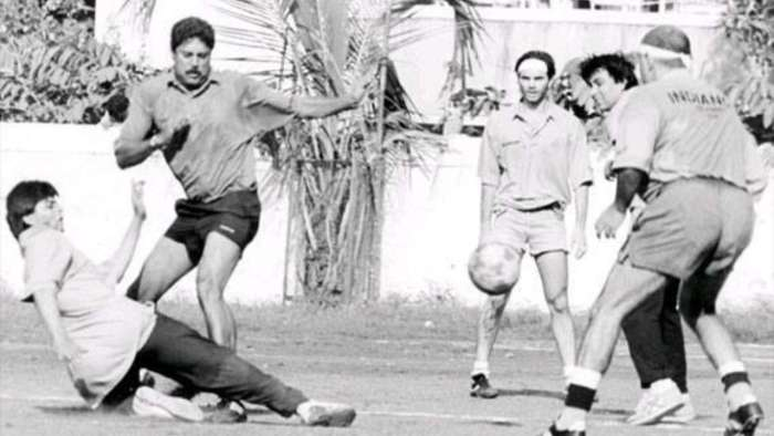 When Shah Rukh Khan tackled Kapil Dev at friendly football match