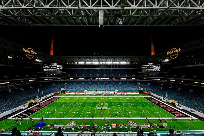 Surreal scene at Hard Rock Stadium grim reminder of difficult college football season
