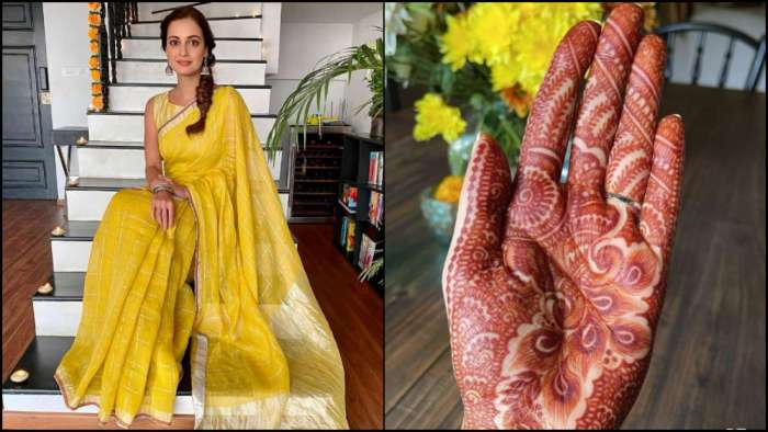 Bride-to-be Dia Mirza is wedding-ready with Vaibhav Rekhi, shares photo of her Mehendi