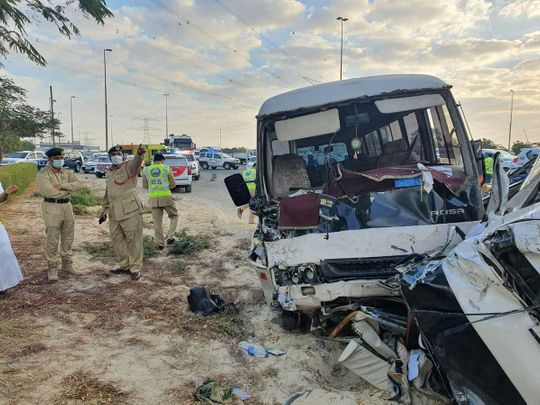 Bus accident in Dubai: Two people died, 10 injured in bus crash