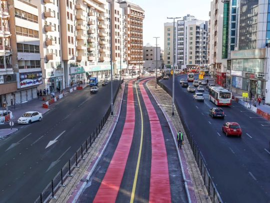 Dh600 fine for motorists who misuse this dedicated bus lane in Bur Dubai from Sunday