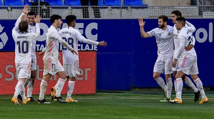 La Liga: Varane double leads Real Madrid comeback win at last-place Huesca