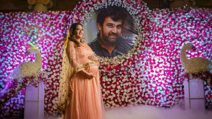Meghana Raj treats fans with first video of late Chiranjeevi Sarja and her son Junior Chiru