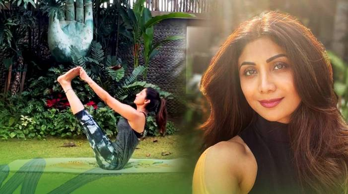 Shilpa Shetty does this yoga pose to beat stress; watch