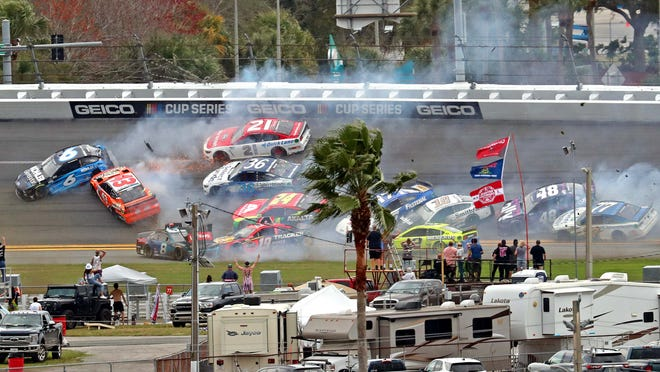 The 'Big One' strikes early as multicar crash unfolds in stage 1 of Daytona 500