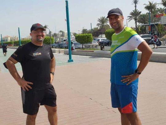 Two Dubai friends run four kilometres every four hours for 48 hours for a good cause